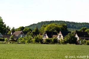 Cité de la Ferronière à Douai. Cette partie du Douaisis offre une alternance de champs cultivés ouverts et de bourgs miniers. © 2012, Hubert Bouvet, Région Nord-Pas de Calais