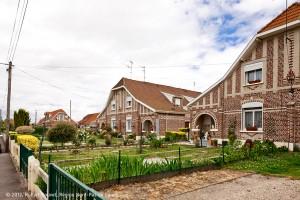 La cité pavillonnaire de la Clochette à Douai-Waziers. Compagnie des mines d'Aniche