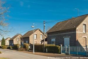 La cité pavillonnaire des Acacias à Condé-sur-l'Escaut. Compagnie des mines d'Anzin