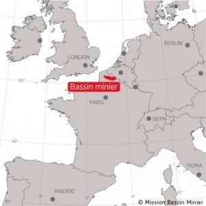 Situation du Bassin minier Nord-Pas de Calais en Europe