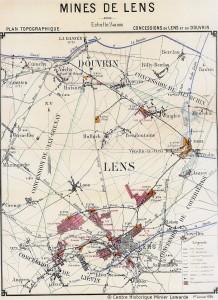 Concession de la Société des mines de Lens en 1909 © Centre Historique Minier Lewarde