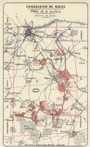Concession de la Société des mines de Vicoigne-Noeux-Drocourt en 1911 © Centre Historique Minier Lewarde