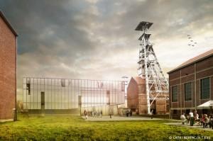 2Le site d'Arenberg à Wallers  et le LEAUD (architecte N.T'Kint) © CAPH/NORPAC/N.T'Kint